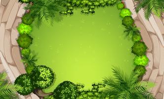 Una vista aerea del giardino vettore
