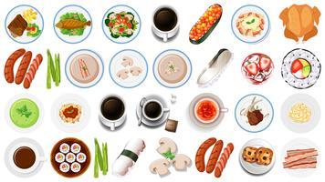 Set di cibo asiatico vettore