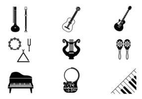 Pacchetto di strumenti musicali vettore