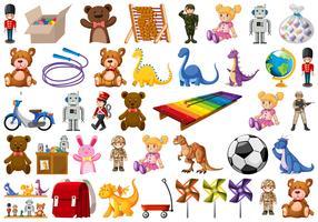 Set di giocattoli per bambini vettore