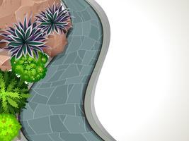 Una cornice di giardino vettore