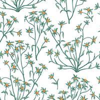 Motivo floreale senza soluzione di continuità. Sfondo di fiori Carta da parati fiorita con bacche e fiori. vettore