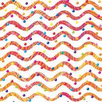 Modello senza cuciture dell'onda astratta. Elegante sfondo geometrico. Carta da parati ornamentale linea ondulata. vettore