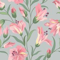 Motivo floreale senza soluzione di continuità. Sfondo di fiori Carta da parati fiorita con fiori.