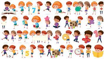 Set di ragazzi di matematica vettore