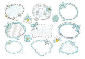 Carino Doodle Speech Bubble Vector Pack