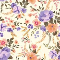 Motivo floreale senza soluzione di continuità. Sfondo di fiori Giardino ornamentale