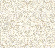 Modello di piastrelle orientali linea astratta floreale. Ornamento arabo vettore
