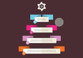 Vettore di infografica albero di Natale
