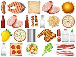 Set di cibo sano vettore