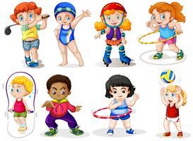Set di bambini sportivi