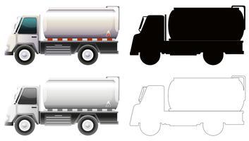 Set di camion di benzina vettore