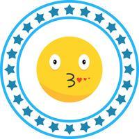 vettore bacio icona emoji