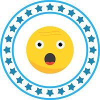 Icona di Emoji di sorpresa vettoriale