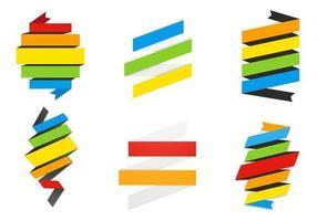 Pacchetto di Rainbow Banner Banner vettoriale