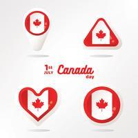 Bandiera del Canada nel pacchetto di forma vettoriale