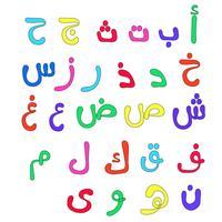Alfabeti arabi per bambini vettore