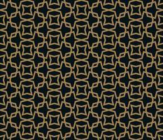 colore dell'oro del modello dell'ornamento senza cuciture astratto dell'illustrazione di vettore del woth
