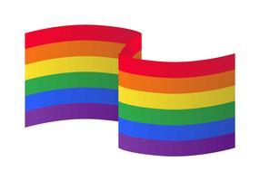 arcobaleno bandiera illustrazione vettoriale