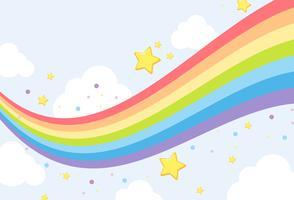 Modello di sfondo arcobaleno cielo vettore