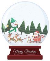 Globo di neve di Natale su sfondo bianco vettore