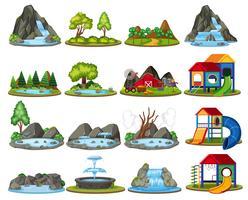 Set di isola per la decorazione vettore