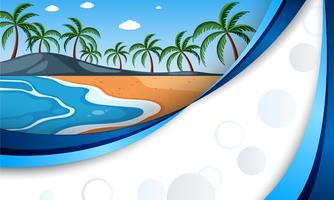 Un modello blu con una bellissima spiaggia