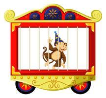 Scimmia nella gabbia del circo