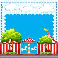 Scena dal circo durante il giorno vettore