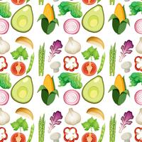 Sfondo di verdure fresche senza soluzione di continuità
