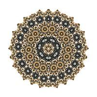 mandala Ornamento sullo sfondo. Elementi decorativi vintage rotondi.