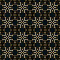 Modello di piastrelle geometriche moderne di vettore. forma foderata d'oro. Abstr vettore
