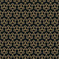 Modello senza cuciture delle linee d'oro sottili che si intersecano su sfondo nero. Ornamento senza soluzione di continuità astratta.