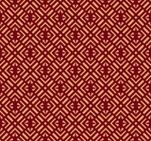 Ornamento vettoriale senza soluzione di continuità. Modello lineare geometrico elegante moderno con colore dorato