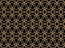 Modello lineare senza cuciture con linee curve incrociate con col oro vettore