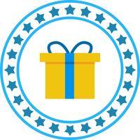 Icona del contenitore di regalo di vettore