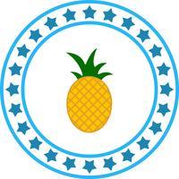 icona di vettore mela di pino