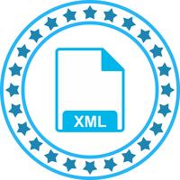 Icona XML vettoriale