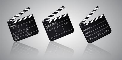 Lista del film regista. Illustrazione vettoriale EPS10.