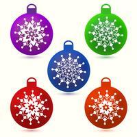 Set di palle di Natale vettore