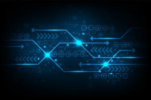 Lo scambio di informazioni in digitale. vettore