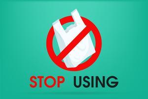 Idee per ridurre l'inquinamento Dire no alla busta di plastica Ecco perché l'effetto serra. La campagna per ridurre l'uso di sacchetti di plastica da mettere. vettore