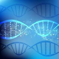 DNA astratto si fonde sullo sfondo vettore