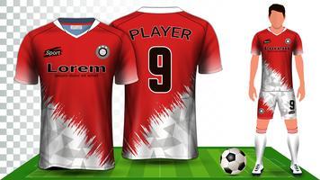 Modello di mockup di presentazione della maglia da calcio, della maglia sportiva o del kit da calcio.