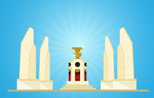 Mocracy Monument Rappresentanti delle prossime elezioni in Tailandia vettore