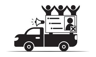 Votazione in Tailandia e campagne per i partiti politici vettore