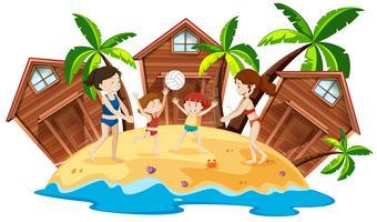Persone al beach resort