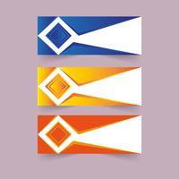 Design creativo della bandiera vettore