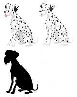 Set di cani dalmation vettore