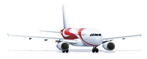 Illustrazione accurata dell'aeroplano vettore
